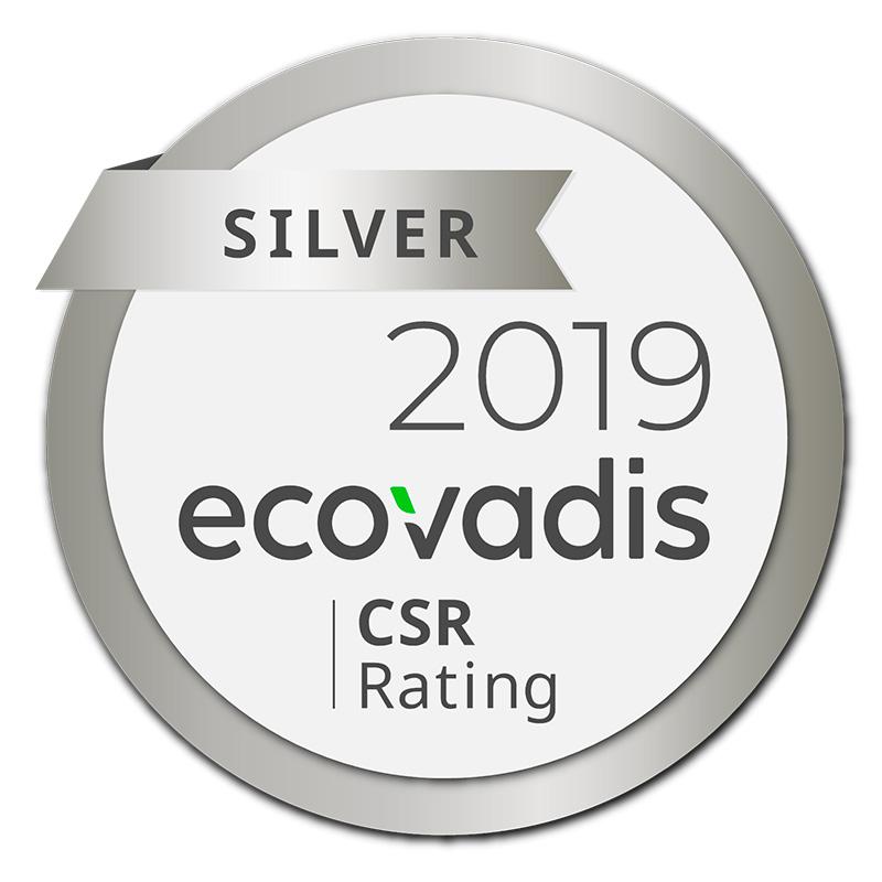 PRT recoit la medaille d'Argent EcoVadis